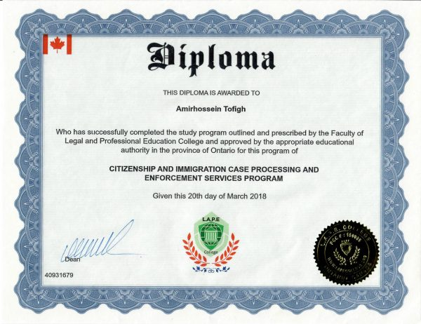 LAPEC - IRCC Diploma